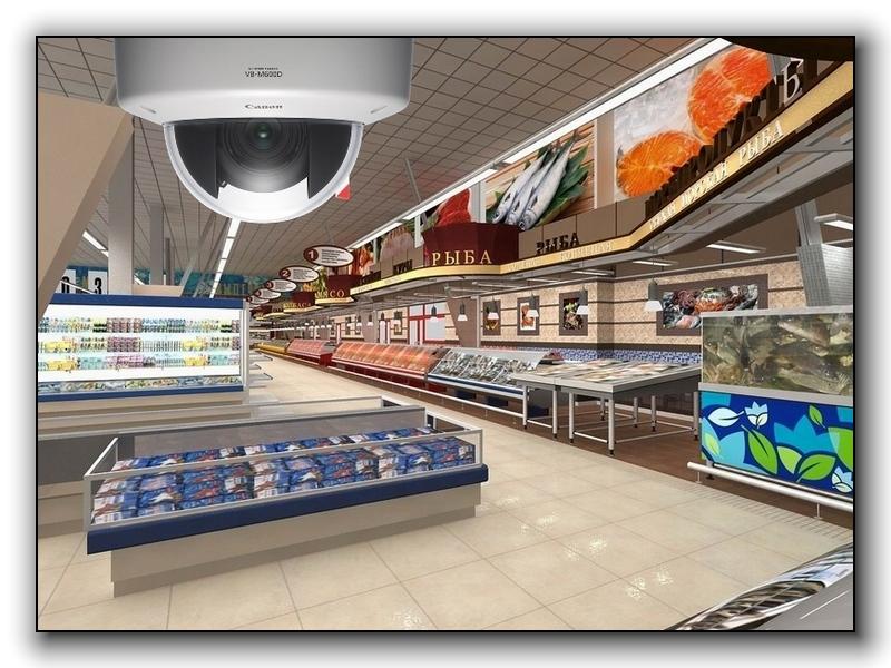 Видеонаблюдения для супермаркетов и магазинов
