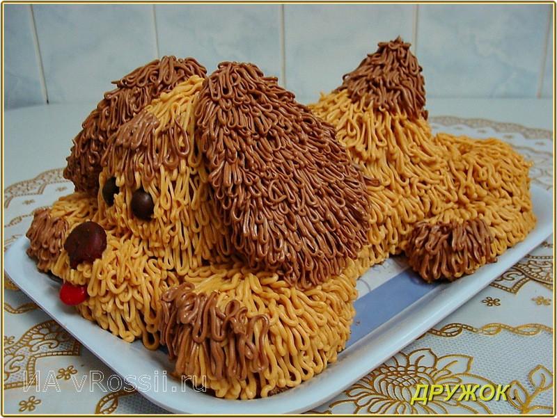 Торт в виде собачки фото